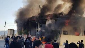 Irakın kuzeyi karıştı, parti binaları ateşe verildi