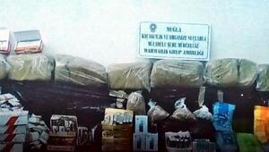Marmariste 50 bin TL değerinde kaçak tütün ele geçirildi