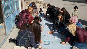 Öğrenciler göçmenlerle buluştu