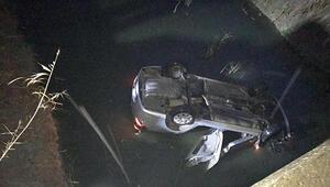 Kontrolden çıkan araç dereye yuvarlandı: 1 ölü, 5 yaralı