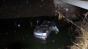 Otomobil, su kanalına uçtu: 1 ölü, 5 yaralı