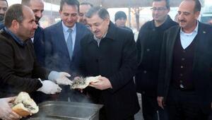 Gölbaşı'nda Hamsi Festivalinde 1,5 ton hamsi dağıtıldı