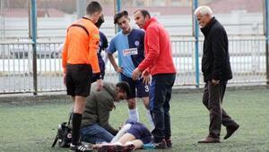 Kayseri'de amatör futbolcu maç sırasında sara nöbeti geçirdi
