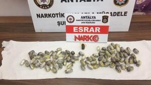 95 kapsül uyuşturucuyu yutarak ülkeye sokan şüpheli tutuklandı