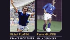 Michel Platini ve Paolo Maldini'nin kariyerleri