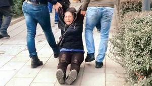 Anne böyle gözaltına alındı