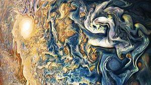 Jüpiter'in mavi bulutları