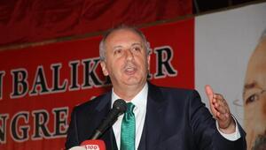 CHPli İnce, partisinin Balıkesir kongresinde Erdoğanı eleştirdi