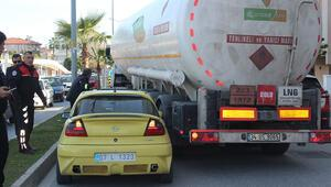 Polis anons etti... Tankere aracı sıkıştır emri
