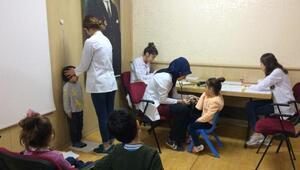 Hemşirelik öğrencileri sağlık taraması yaptı