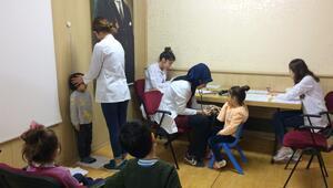 Hemşire adaylarından öğrencilere sağlık taraması