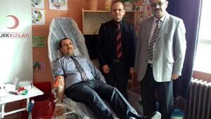 Ziyaret Ortaokulu'nda kan bağışladılar