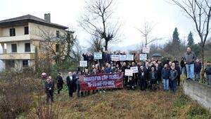 Trabzonda katı atık bertaraj tesisi protestosu