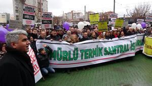 Eskişehirde termik santral protestosu