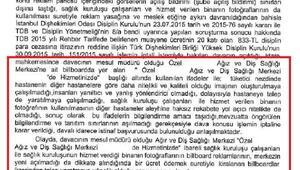 İstinaf Mahkemesi, ağız ve diş sağlığı merkezine verilen disiplin cezasını yerinde buldu