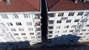 Rizede eğimi artan binalara demir direkli önlem