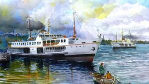 Ressam Demircandan Gemilerimiz isimli suluboya resmi sergisi