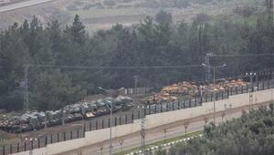 Şu anda sınır hattı… Tanklar sıralandı