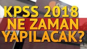 2018 KPSS lisans ve ön lisans ne zaman yapılacak