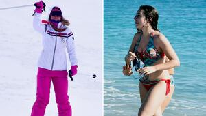 Burası Antalya... Bir saatte hem deniz hem kayak keyfi