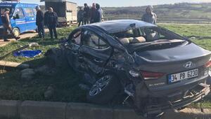 Kamyon ile otomobil çarpıştı: 1 ölü, 2 yaralı