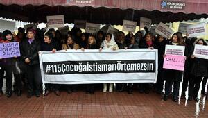 Skandalın yaşandığı hastane önünde protesto