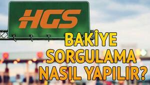 HGS bakiye sorgulama işleminde kolay yöntem HGS cezası nasıl sorgulanır