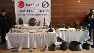 İstanbulda büyük operasyon; Sümer, Asur ,Akad,Bizans ve Osmanlı dönemi eserleri ele geçirildi