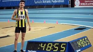 Genç atlet İlyas Çanakçıdan Türkiye rekoru
