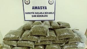 Amasya'da 21 kilo uyuşturucuya 2 gözaltı