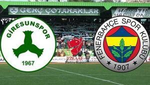 Fenerbahçe, kupada Giresunspor deplasmanında