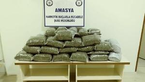 Amasya'da 21 kilo uyuşturucu ele geçirildi