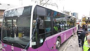 Yine otobüs kazası... Sürücü: direksiyon kilitlendi