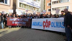 Trabzonda katı atık bertaraf tesisine tepkiler sürüyor