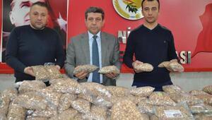 Nizip'ten Mehmetçik'e 1 ton fıstık