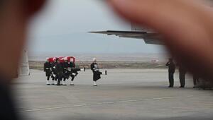 Zeytin Dalı Harekatında şehit olan 5 asker memleketlerine uğurlandı