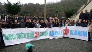 Trabzonda katı atık bertaraf tesisi protestosu