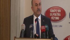 Çavuşoğlu: Sınırımızı temizlemezsek yarın Türkiyenin başına bela olur ve daha büyük tehditler oluşur