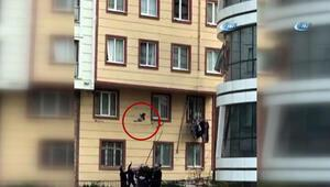 Camdan düşen çocuğu havada yakaladılar İstanbulda inanılmaz olay