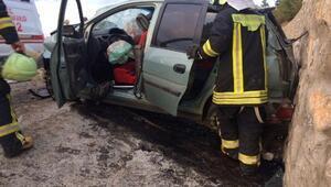 Ticari araç devrildi: 2si çocuk 7 yaralı