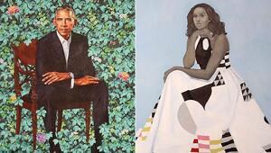 Obama çiftinin resmi portreleri beğeniye sunuldu