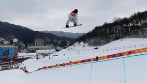 PyeongChang Kış Olimpiyatlarında podyumda Shaun White