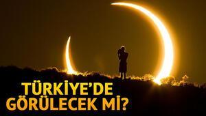 Güneş tutulması ne zaman saat kaçta olacak Parçalı Güneş tutulması Türkiyeden görüntülenebilecek mi