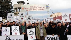 Mazlumderden, Bolu F Tipi Cezaevi önünde 28 Şubat protestosu