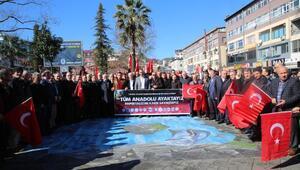 Rize'de, Zeytin Dalı Harekatı'na destek açıklaması