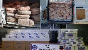 Vanda gümrük kaçağı 30 bin 450 paket sigara ele geçirildi