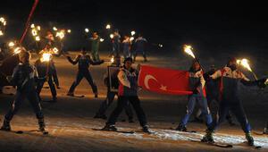 Bursada olimpiyat protestosu Kayak takımlarını yaktılar