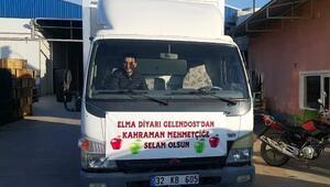 Gelendosttan Mehmetçiğe 6 ton elma