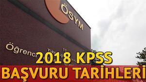 2018 KPSS sınavı ne zaman yapılacak İşte KPSS sınav ve başvuru tarihleri