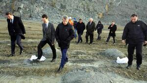 Zonguldak Valisi Çınar, Filyos limanı inşaatını inceledi